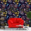 Dark Chinoiserie And Floral Wallpaper 1